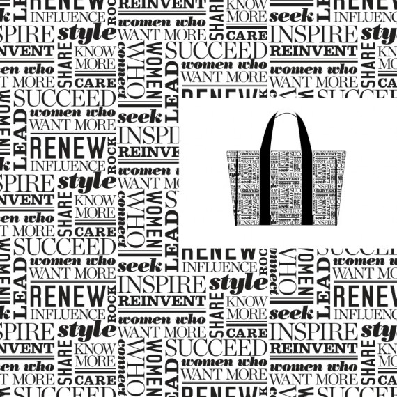 MORE Magazine – Typographic Promotional Tote