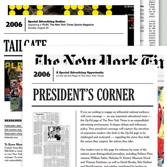 The New York Times – Sales and Marketing Collateral